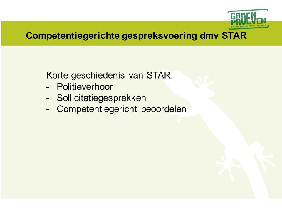 Competentiegerichte gespreksvoering dmv STAR