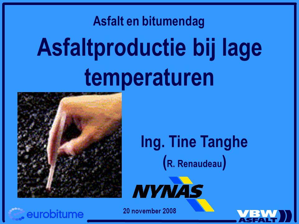 Asfaltproductie bij lage temperaturen