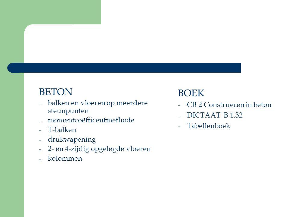 BETON BOEK balken en vloeren op meerdere steunpunten