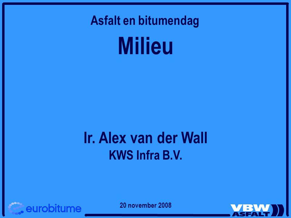 Milieu Ir. Alex van der Wall Asfalt en bitumendag KWS Infra B.V.