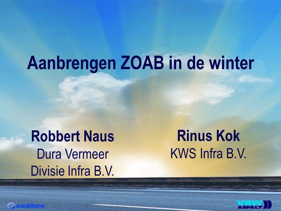 Aanbrengen ZOAB in de winter