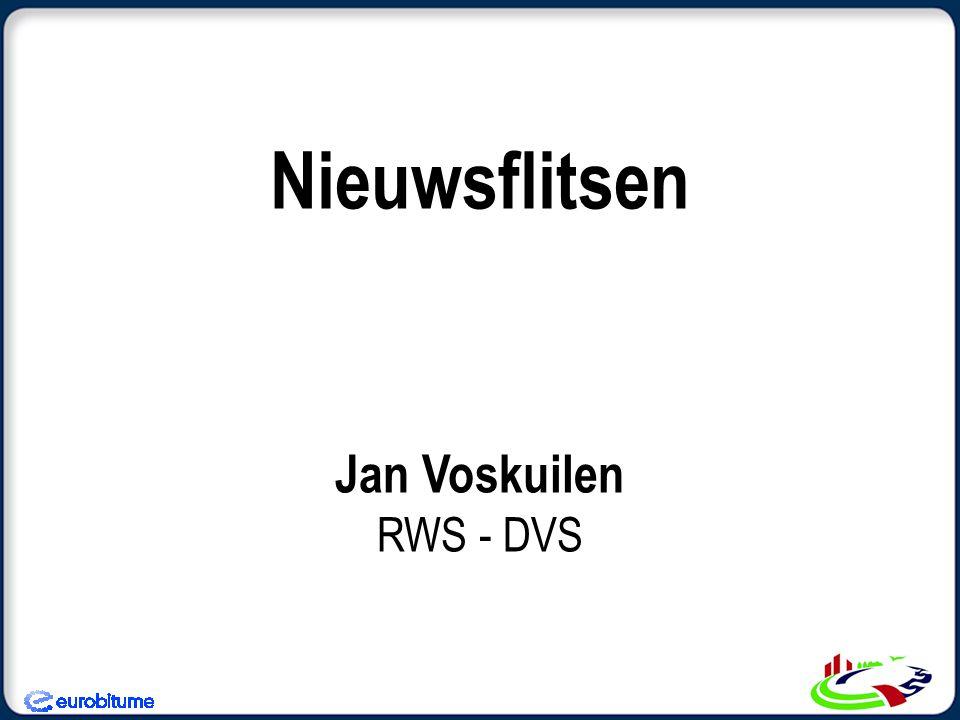 Nieuwsflitsen Jan Voskuilen RWS - DVS