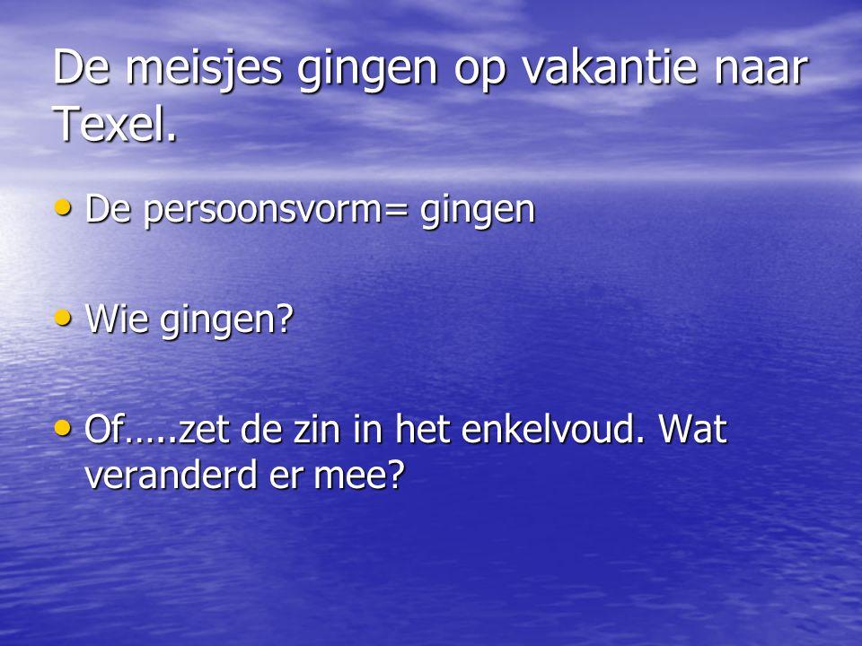 De meisjes gingen op vakantie naar Texel.