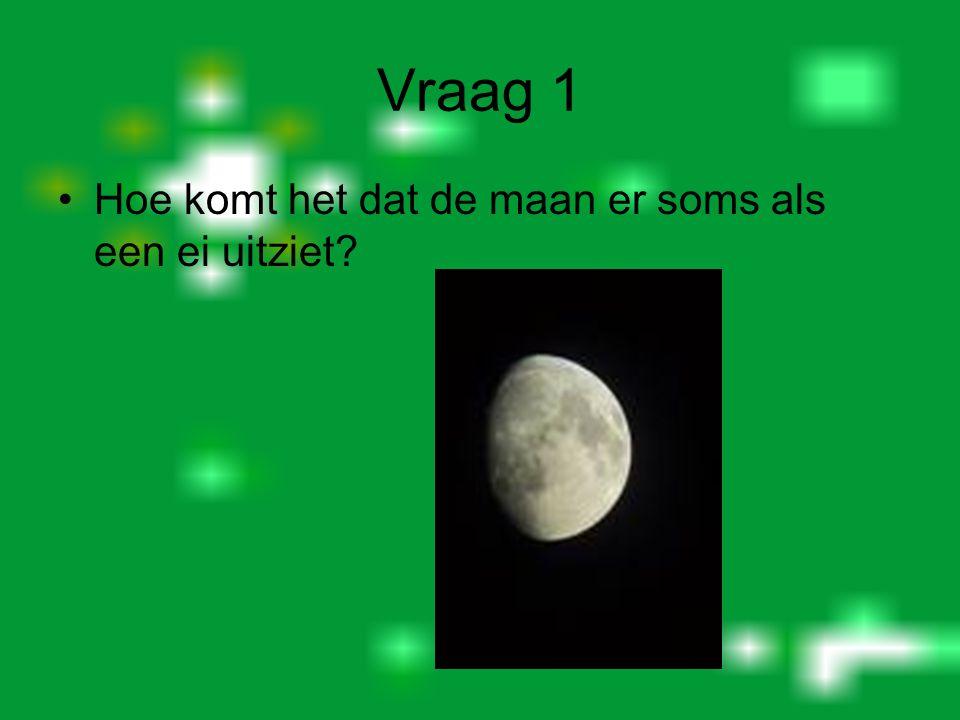 Vraag 1 Hoe komt het dat de maan er soms als een ei uitziet