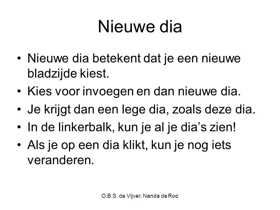 O.B.S. de Vijver, Nanda de Roo