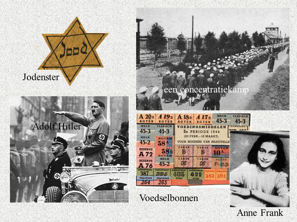 Jodenster een concentratiekamp Adolf Hitler Voedselbonnen Anne Frank