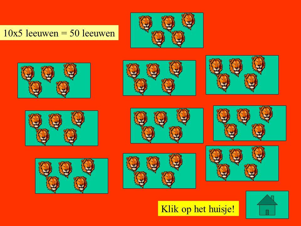 10x5 leeuwen = 50 leeuwen Klik op het huisje!