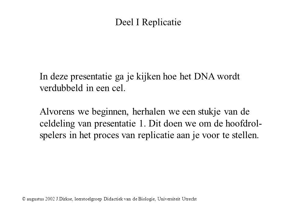 In deze presentatie ga je kijken hoe het DNA wordt