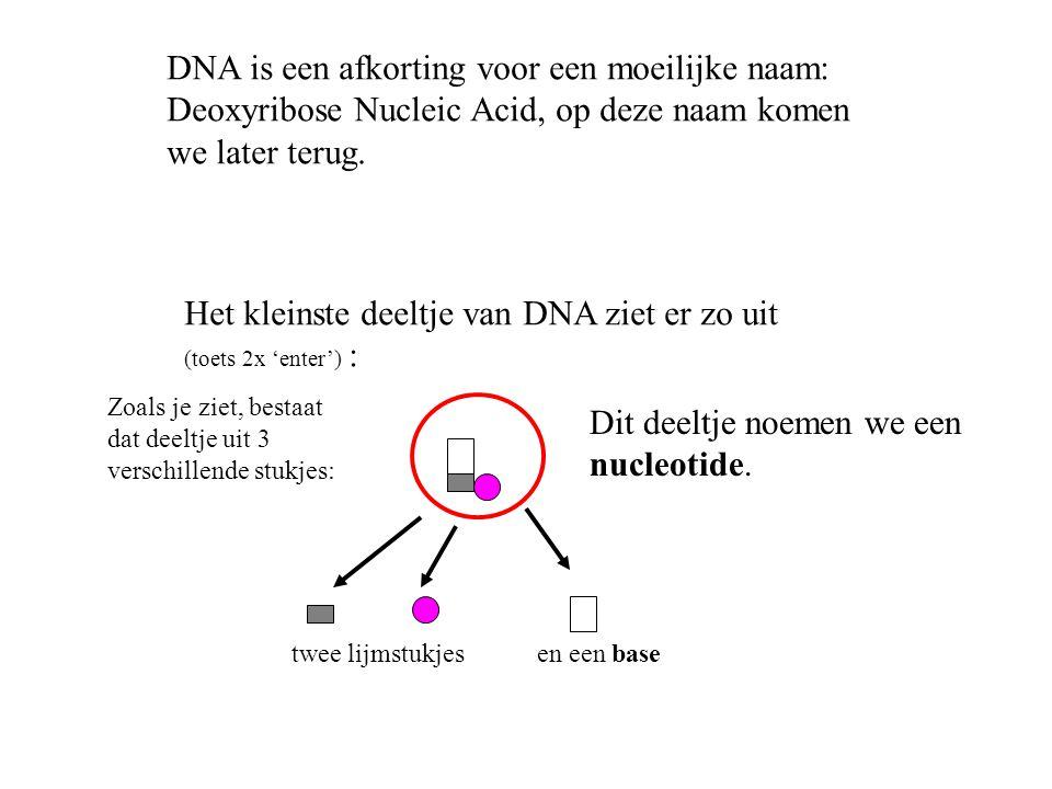 DNA is een afkorting voor een moeilijke naam: