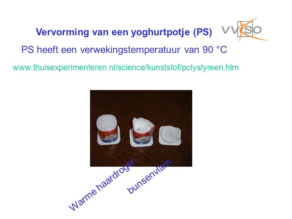 Vervorming van een yoghurtpotje (PS)
