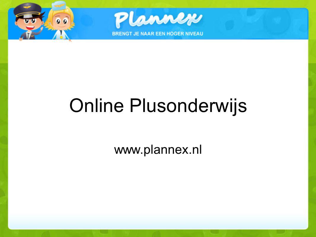 Online Plusonderwijs ontvangst www.plannex.nl