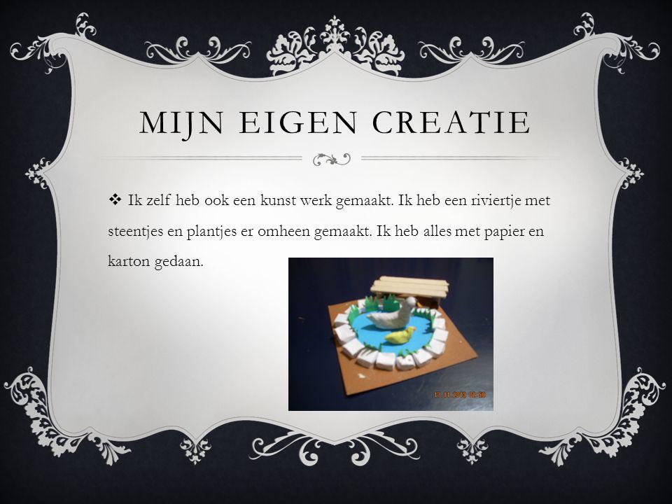 MIJN EIGEN CREATIE