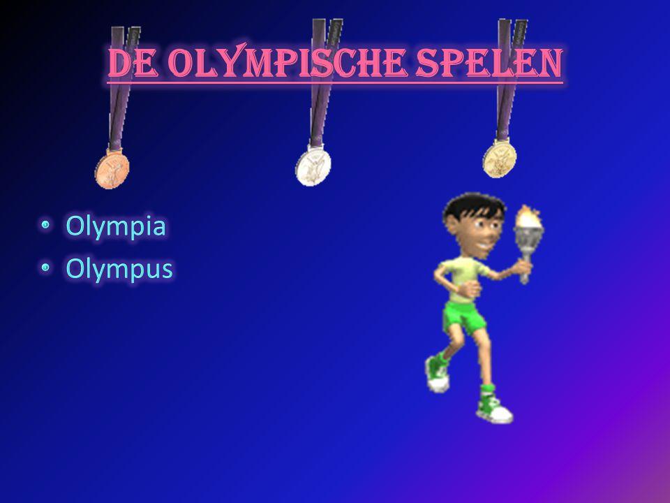 De OLYMPISCHE SPELEN Olympia Olympus