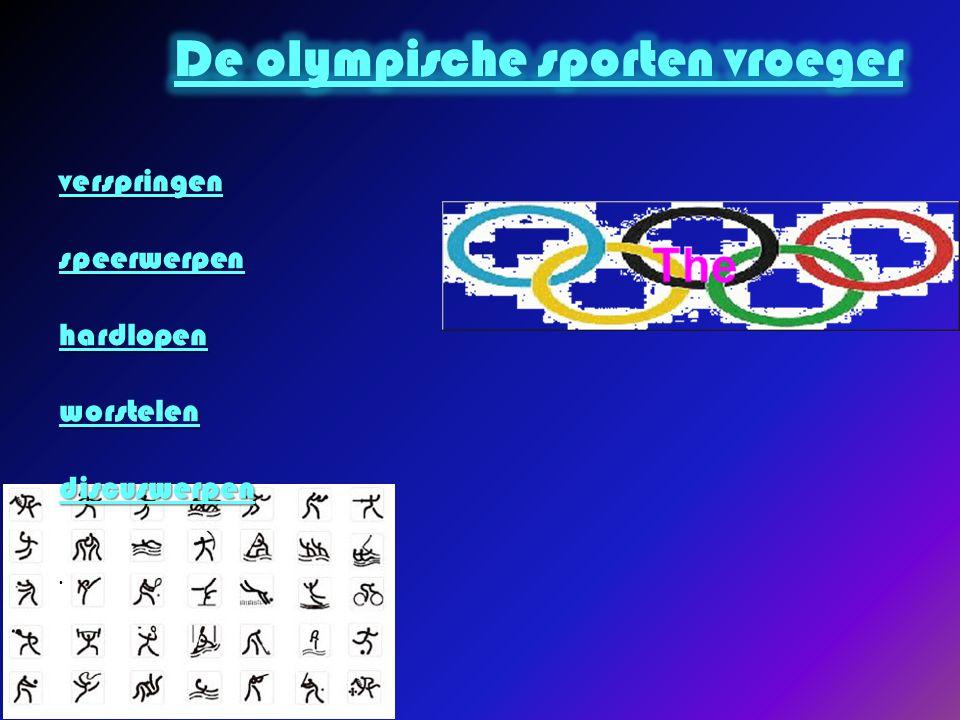 De olympische sporten vroeger