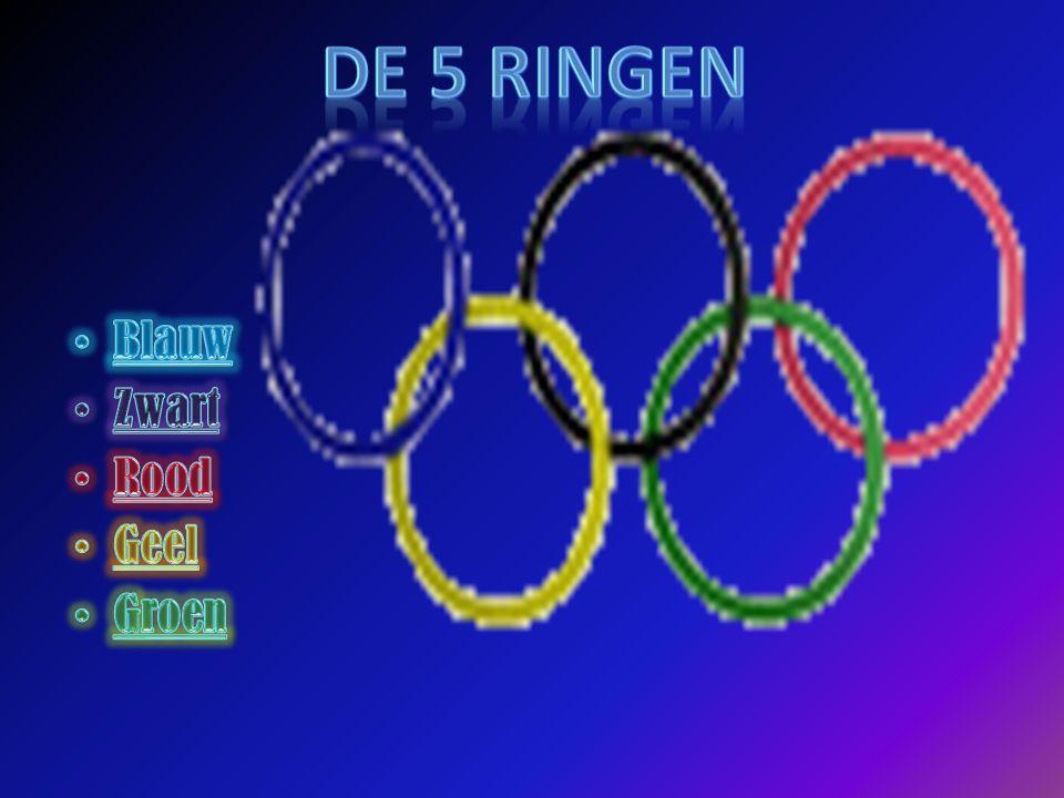 DE 5 RINGEN Blauw Zwart Rood Geel Groen