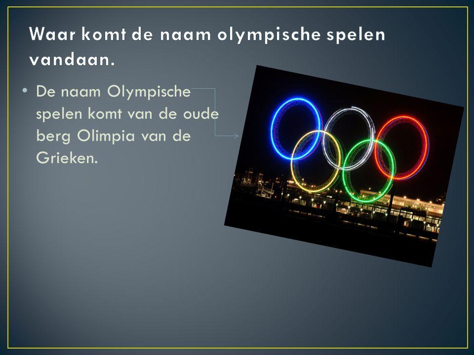 Waar komt de naam olympische spelen vandaan.