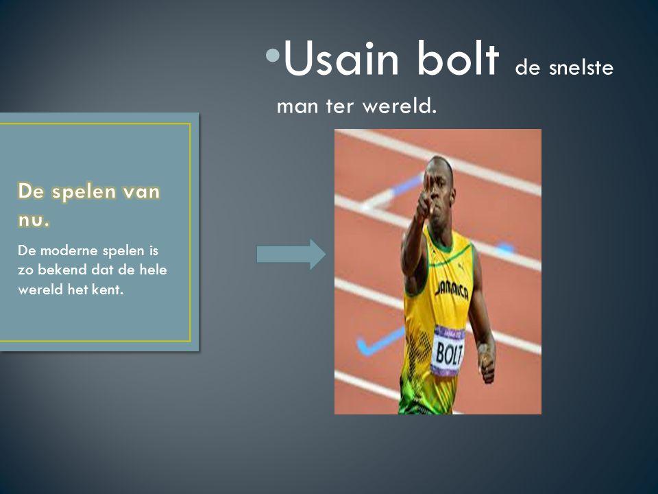 Usain bolt de snelste man ter wereld.