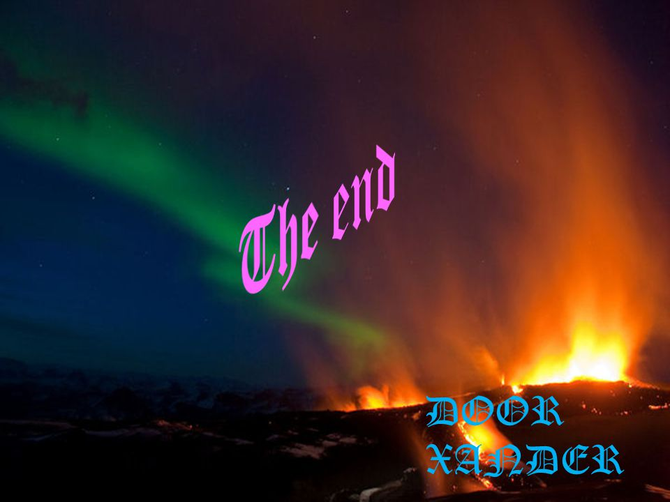 The end Einde DOOR XANDER