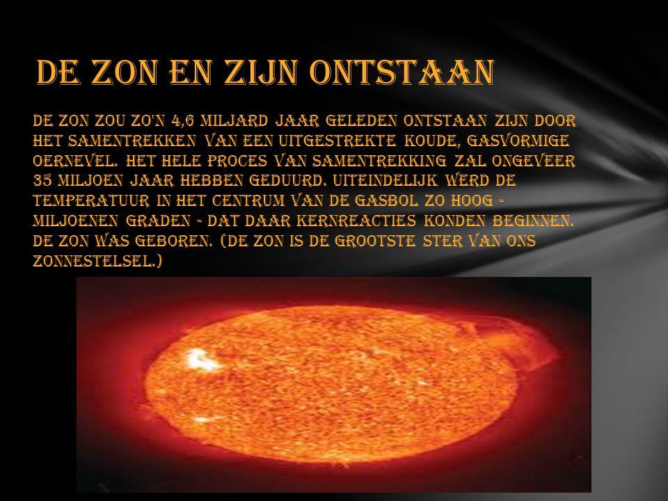 De zon en zijn ontstaan