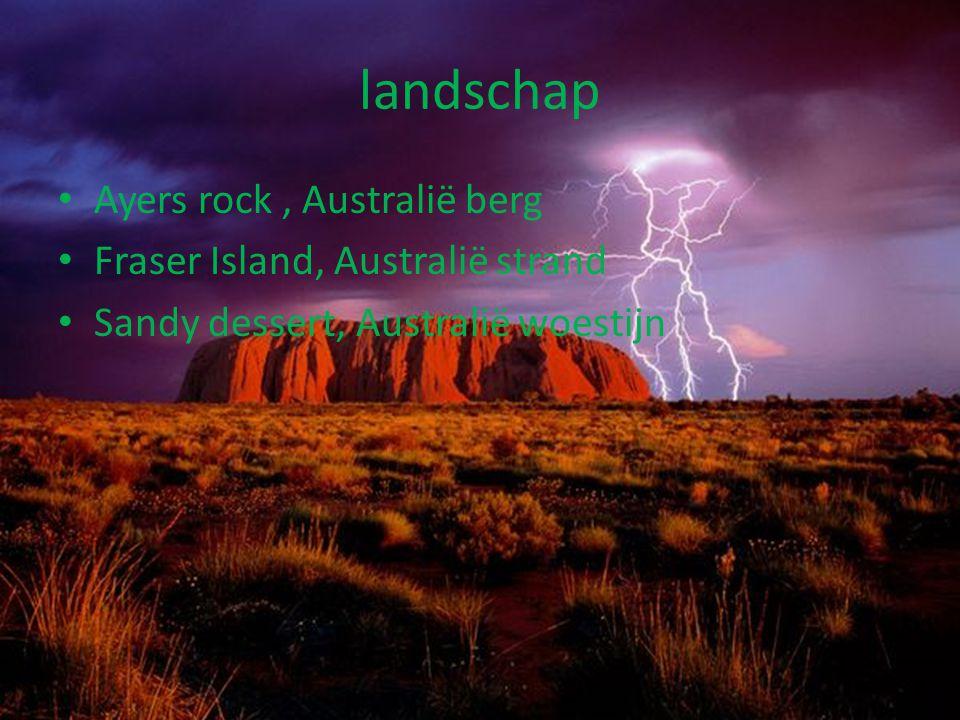 landschap Ayers rock , Australië berg Fraser Island, Australië strand