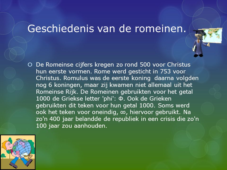 Geschiedenis van de romeinen.