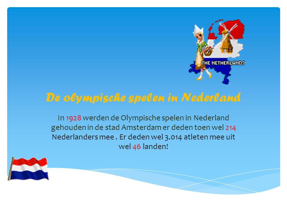 De olympische spelen in Nederland