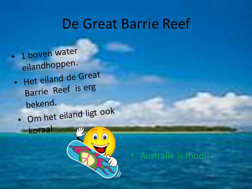 De Great Barrie Reef 1 boven water eilandhoppen.