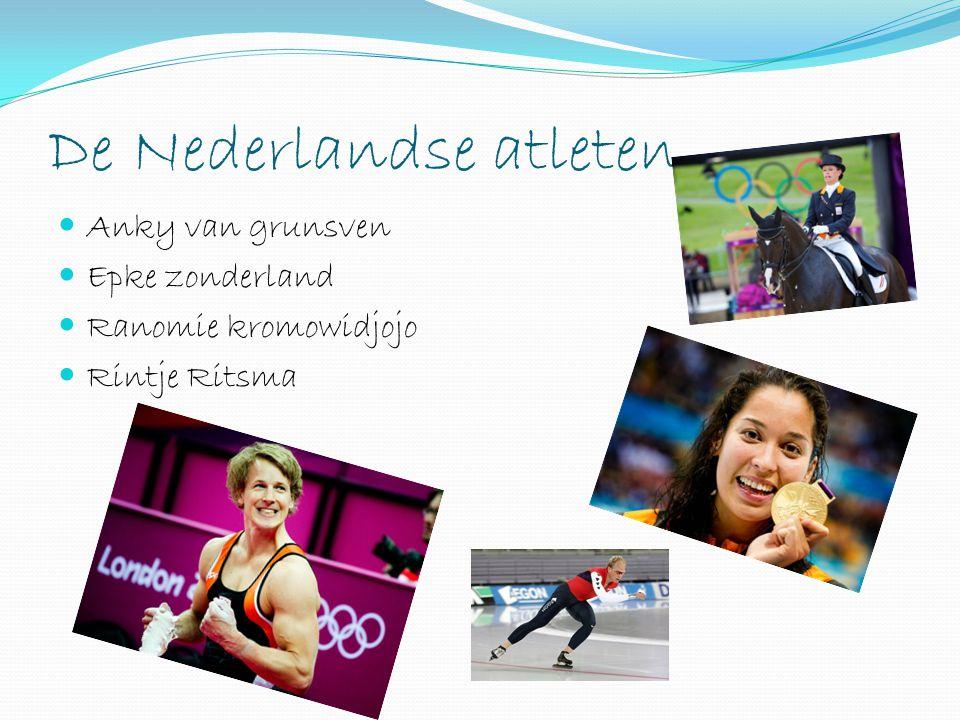 De Nederlandse atleten
