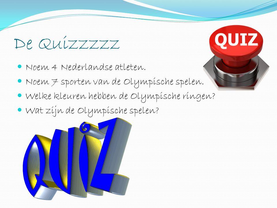 De Quizzzzz Noem 4 Nederlandse atleten.