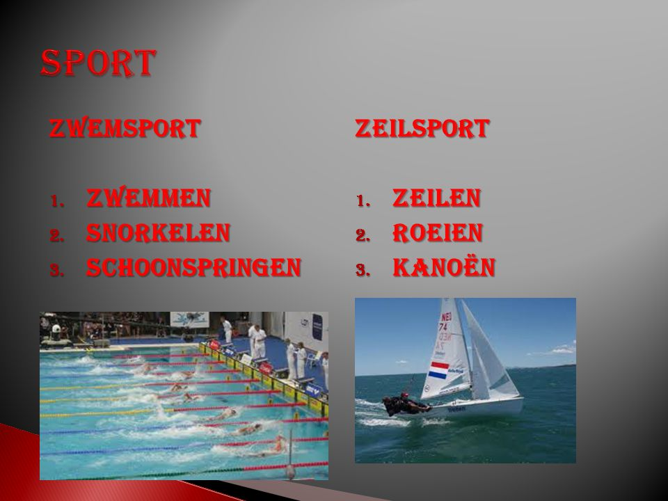 Sport Zwemsport Zwemmen Snorkelen Schoonspringen Zeilsport Zeilen