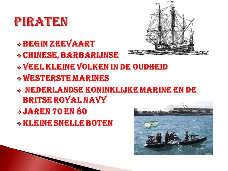 Piraten Begin zeevaart Chinese, barbarijnse