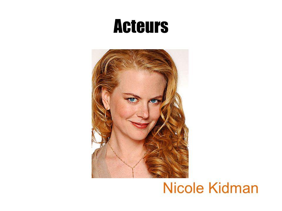 Acteurs Nicole Kidman