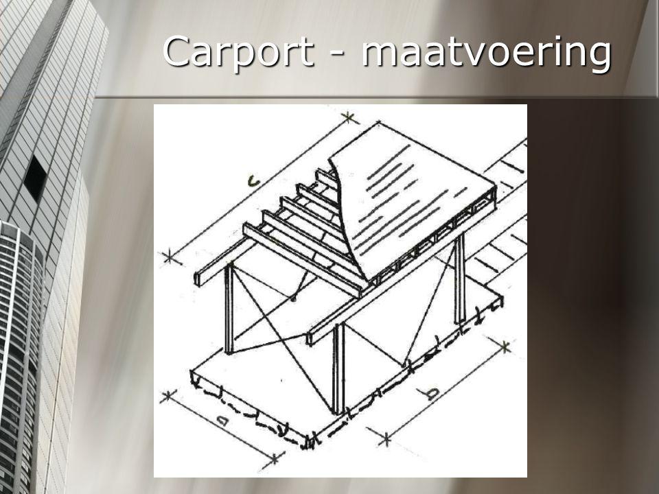 Carport - maatvoering