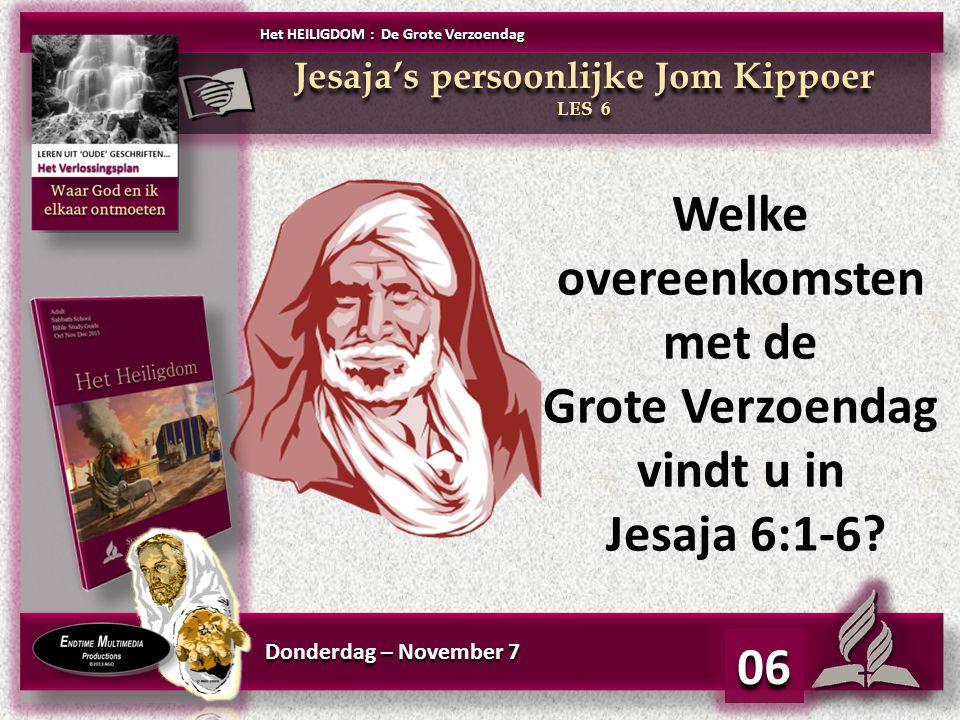 Jesaja's persoonlijke Jom Kippoer