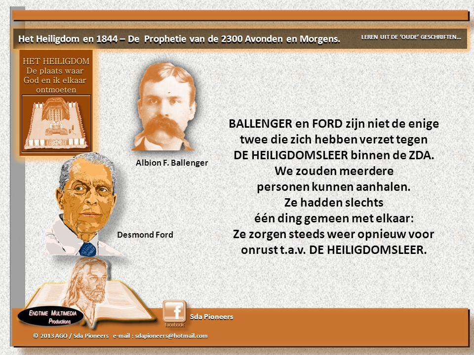 BALLENGER en FORD zijn niet de enige twee die zich hebben verzet tegen