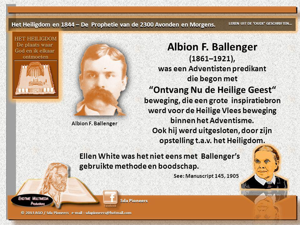 Albion F. Ballenger Ontvang Nu de Heilige Geest (1861–1921),