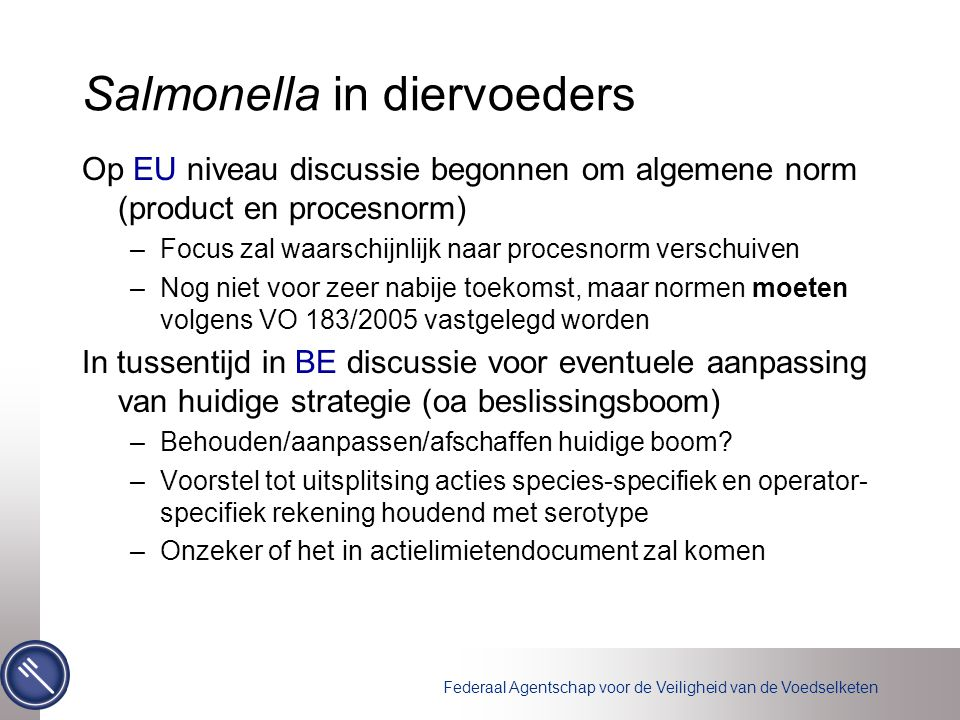 Salmonella in diervoeders