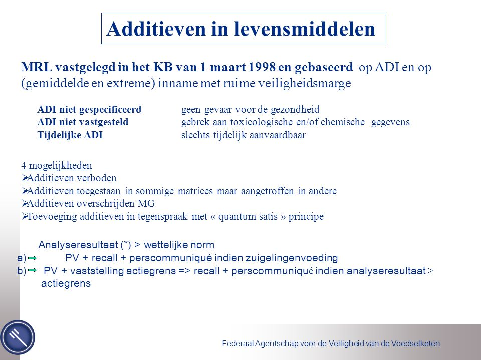 Additieven in levensmiddelen