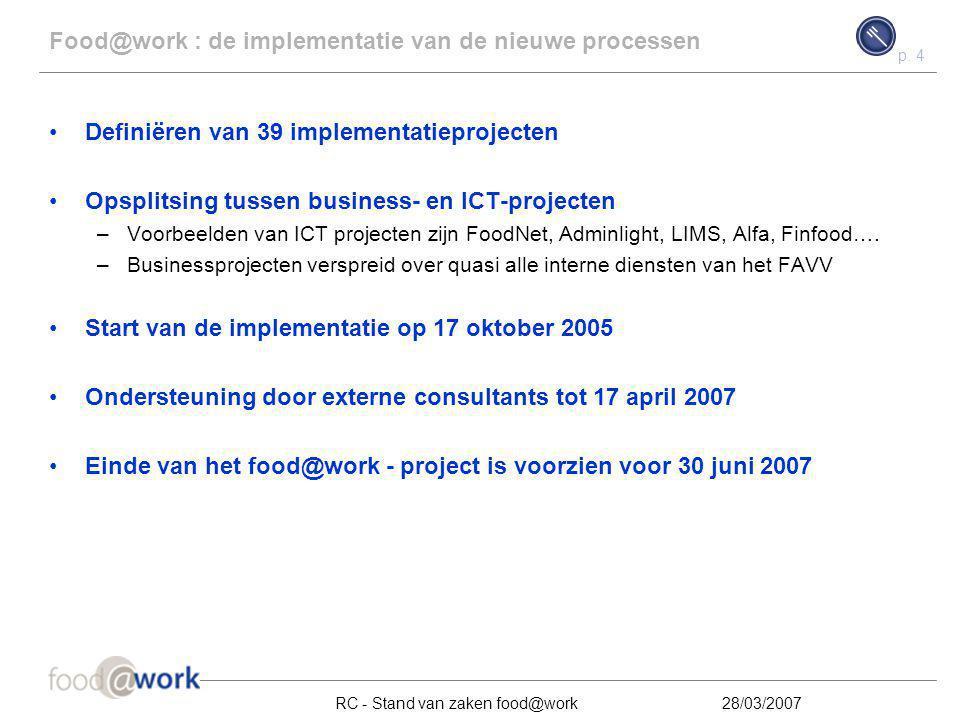 Food@work : de implementatie van de nieuwe processen