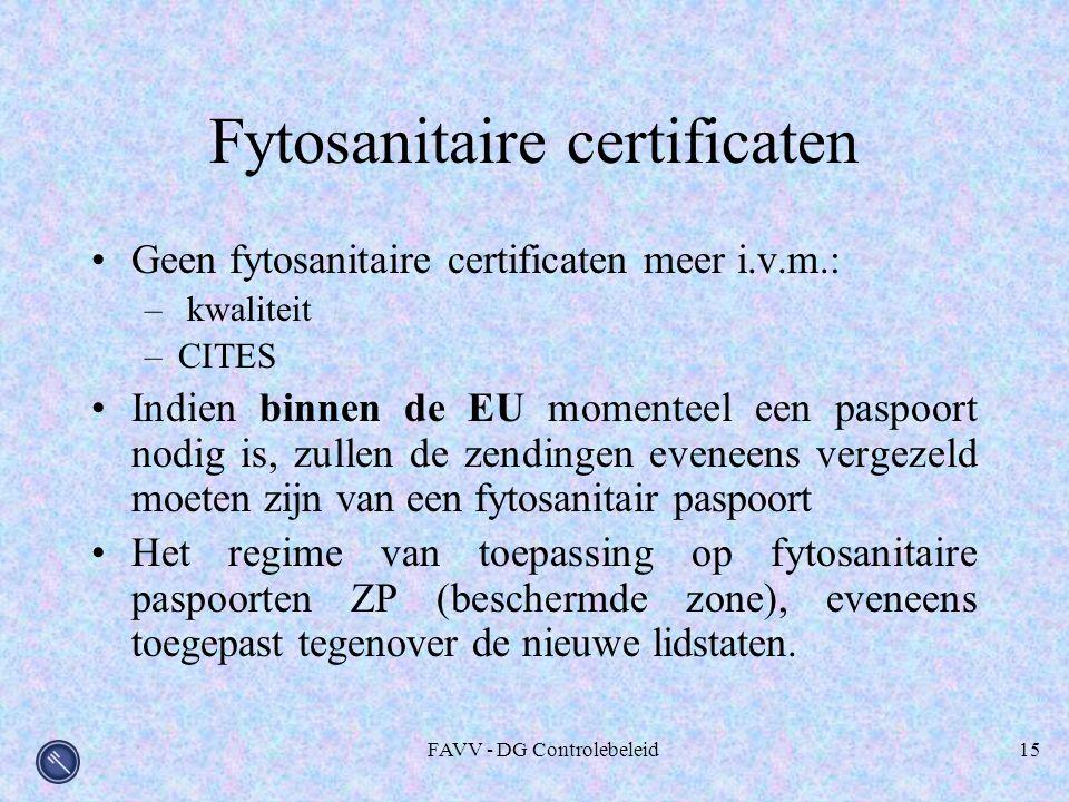 Fytosanitaire certificaten