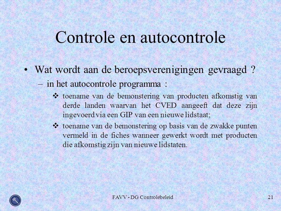 Controle en autocontrole