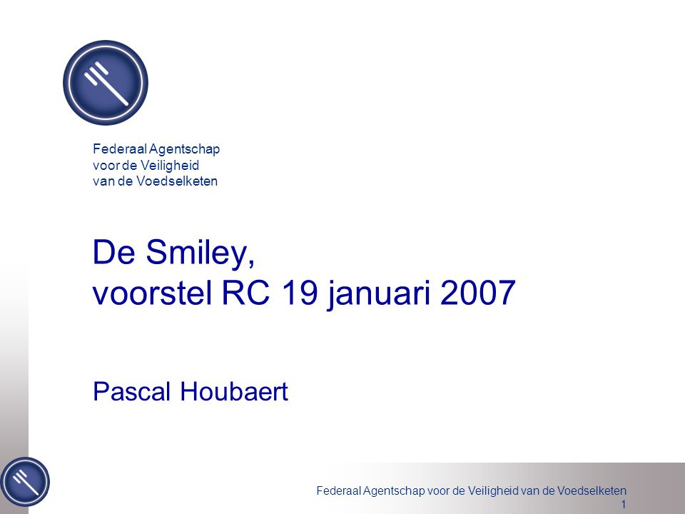 De Smiley, voorstel RC 19 januari 2007