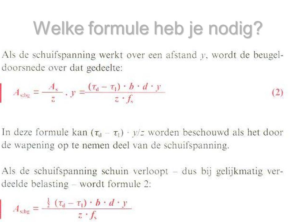 Welke formule heb je nodig