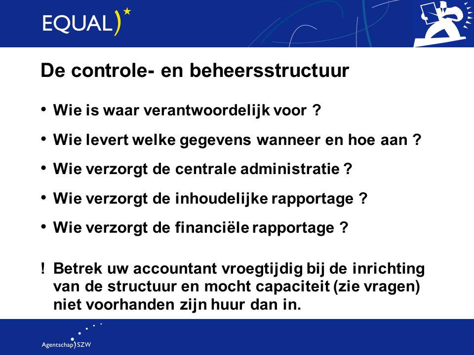 De controle- en beheersstructuur