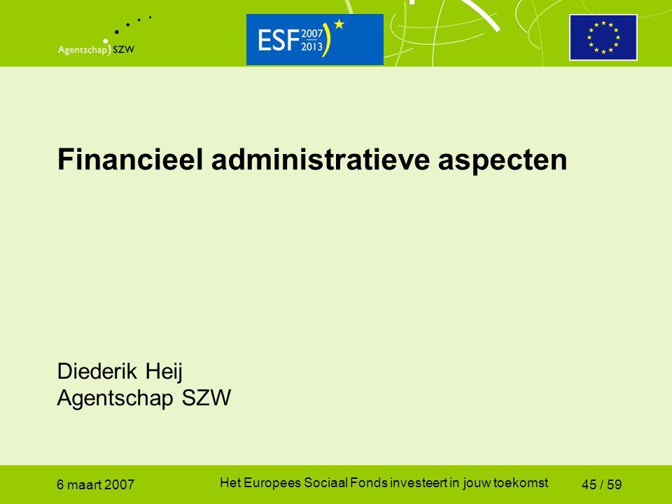 Financieel administratieve aspecten