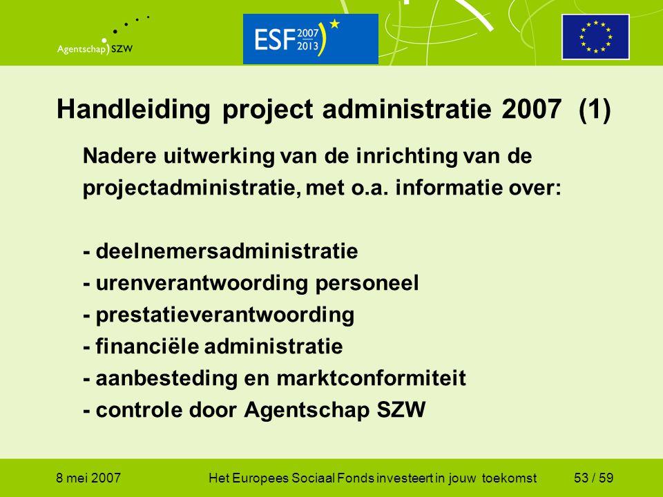 Handleiding project administratie 2007 (1)