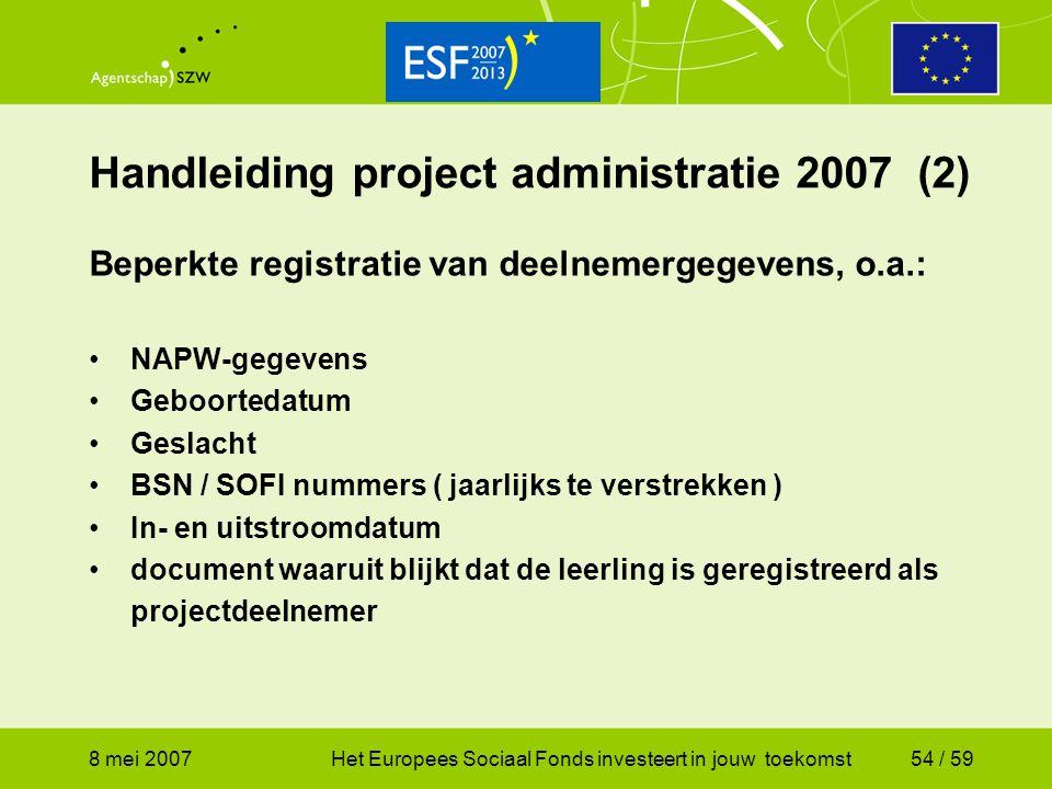 Handleiding project administratie 2007 (2)