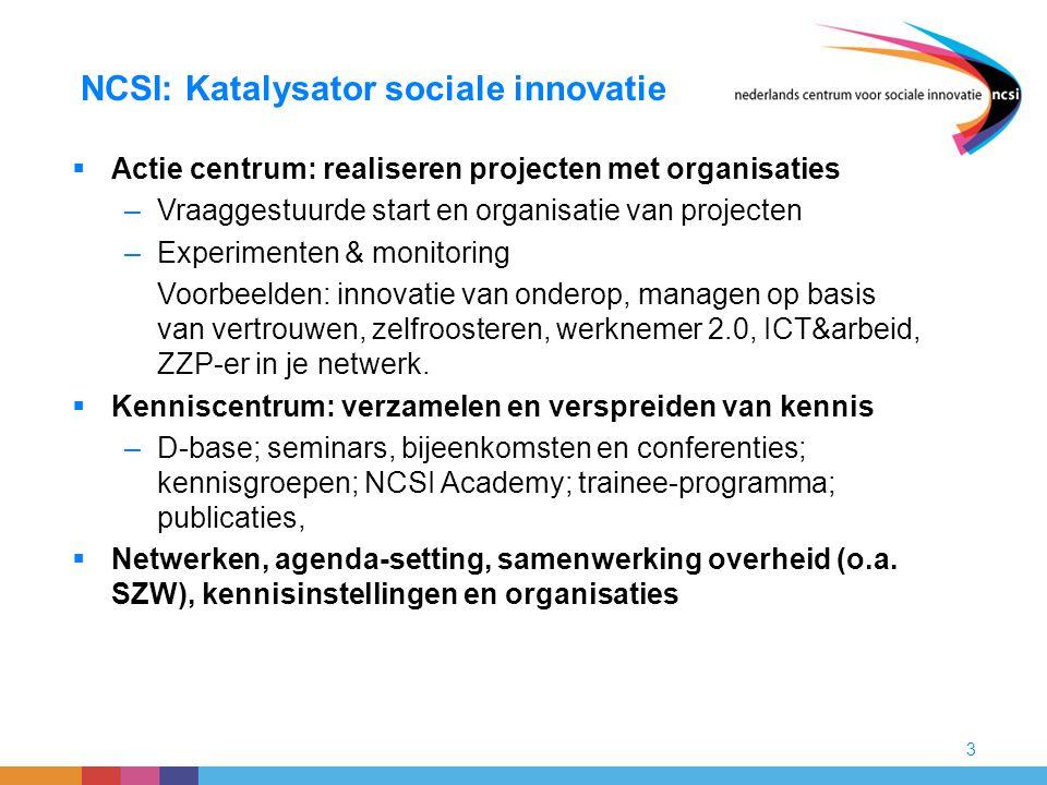 NCSI: Katalysator sociale innovatie