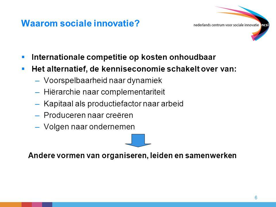 Waarom sociale innovatie