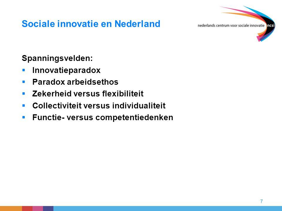 Sociale innovatie en Nederland